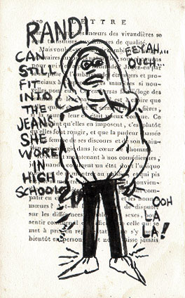 The jeans she wore in high school - click to enlarge!