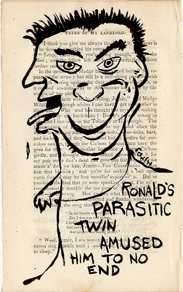 Ronald's parasitic twin amused him to no end - click to enlarge!